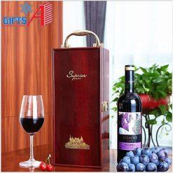 Hộp rượu gỗ đơn
