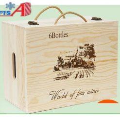 Hộp rượu gỗ đa ngăn